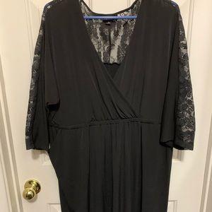 Torrid black lace jersey dress